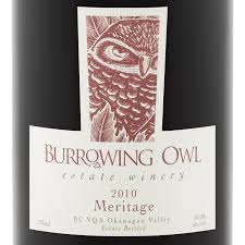 Burrowing Owl Meritage label