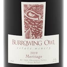 Burrowing Owl Meritage label