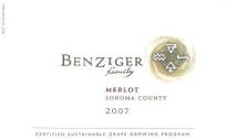 Benziger Merlot label