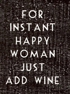 Wine Happy woman