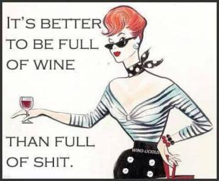 Wine full of shit