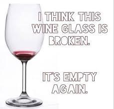 Wine glass broken again
