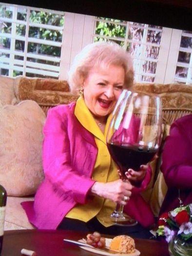 Wine Betty white