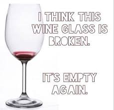 Wine glass broken again