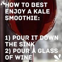 kale wine
