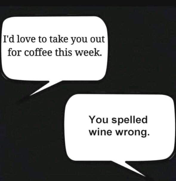 wine spelled wrong