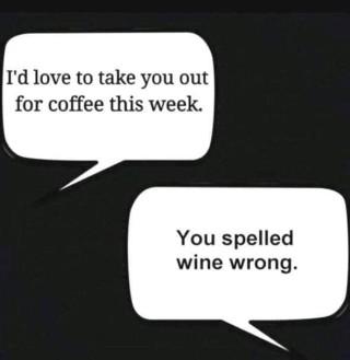 wine spelled wrong