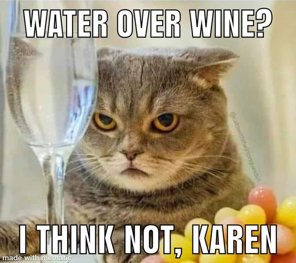 Water over wine