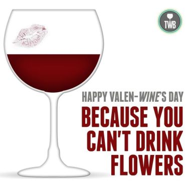 Wine Valentines day